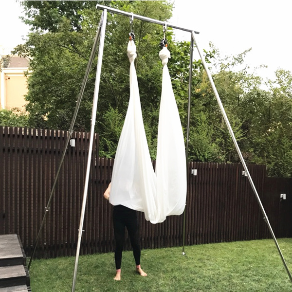 PRIOR FITNESS Yoga Swing Stands Yoga Portable A Frame For Silks Aerial Yoga Body Trapeze Stand Aerial Yoga Rigging