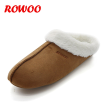 New Winter Men Slippers Faux Fur Warm Plush Male Slides Indoor EVA Flat Slides Home House Shoes Non-Slip Footwear Wholesale ttsdarcups winter women home slippers with faux fur fashion warm shoes woman slip on flats female slides black pink plus size 41