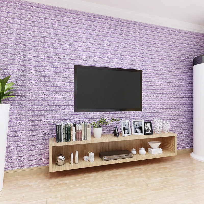 3D Stiker Dinding Bata Imitasi Dekorasi Kamar Tidur Tahan Air Self-Adhesive Wallpaper untuk Ruang Tamu Dapur TV Latar Belakang Dekorasi