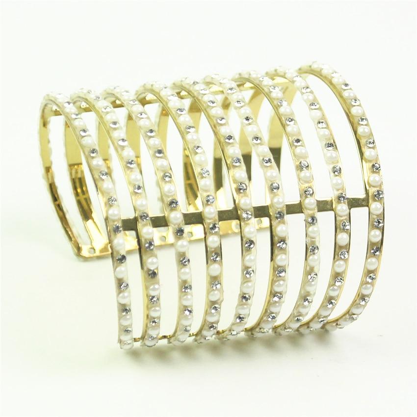 rhinestone cuff bracelets for women bangles pulseiras carter love gold color bangles bracelet manchette jonc femme