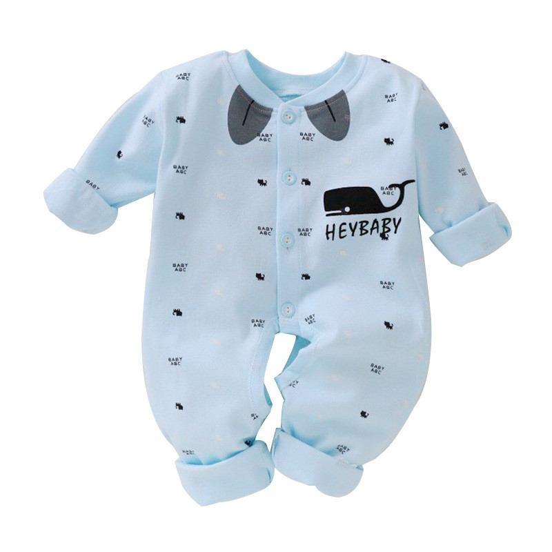2017 New Autumn Newborn Baby Clothes Baby Romper Jumpsuits Boys Girls Clothes Long-sleeved Soft Cotton Romper Kids Clothes Sets autumn baby clothes baby jumpsuit boys and girls romper cotton knitted long sleeved sweater