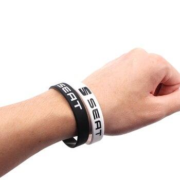 Car-Styling Hologram Bracelets Silicone Wristband Bangles for seat leon ibiza Alhambra lada niva kalina priora granta largus vaz 5