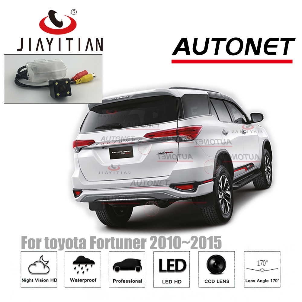 US $20 22 30% OFF JiaYiTian rear camera for toyota fortuner Fortuner 2015  2016 2017 2018 2019 CCD Night Vision Parking Backup camera license plate-in