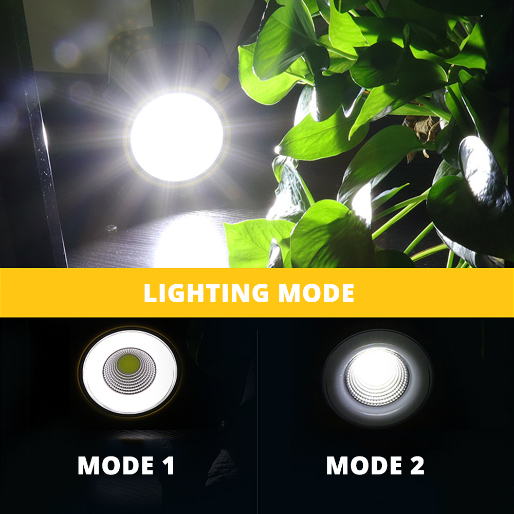 Купить с кэшбэком Rechargeable LED Work light Solar LED Flashlight Portable light  Can be used as a mobile power source Suitable for camping