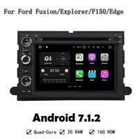 7 ''Polegadas Tela HD Quad Core RAM 2G Android 7.1 Carro DVD Player GPS Navi Para Ford Fusion Explorador F150 Expedição Borda 2006-2009