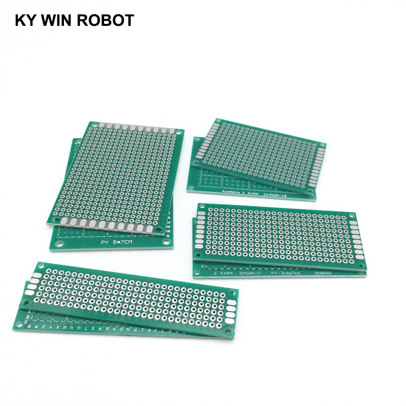 LAITER Double Sided PCB Board Prototype Kit Male Female Pin Header PCB Terminal Blocks Universal Circuit Board DIY Soldering and Electronic Project Accessories