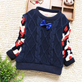 2017 New High Quality Winter Autumn Infant Children Boy Child Sweater Bow-knot O-Neck Sweater Outerwear Pullover 2 Color YY0770