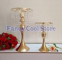 10pcs/lot Wedding master table candlestick flower stand golden mermaid wedding road lead master table decoration wedding decor