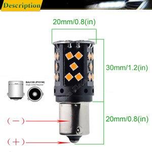 Image 4 - 2 pcs 1156py py21w 자동차 led 앰버 옐로우 오렌지 canbus 없음 obc 오류 하이퍼 플래시 턴 신호 빛 bau15s 7507 12 v 24 v 자동 전구