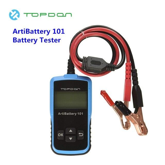 TOPDON ArtiBattery 101 Battery Tester Analyzer Automotive Diagnostic Cranking Charging System Digital Tools 12V Light Trucks