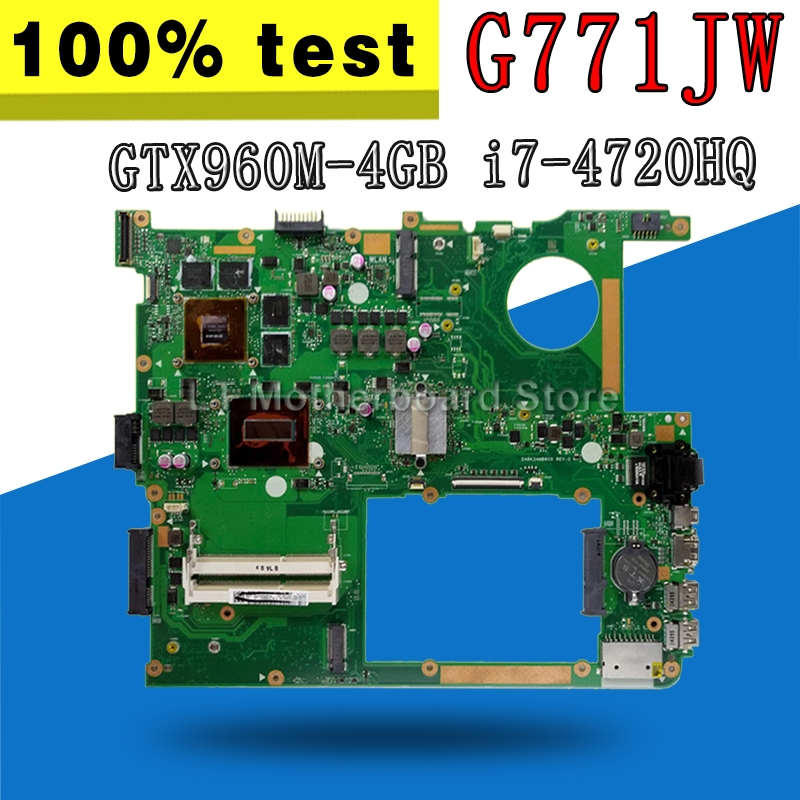 GTX960M 4GB G771JW материнской платы с i7 4720HQ для ASUS ROG G771JW G771JM G771JK G771J G771 ноутбук плата материнская плата