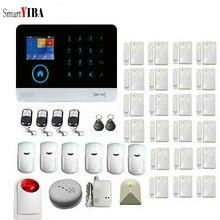 SmartYIBA 2g Negócio Em Casa Sistema de Alarme de Segurança 433 mhz Sem Fio GSM & WIFI Smart Home Security Kit Sistema de Toque tela de Discagem Automática