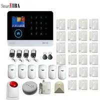 SmartYIBA 2G Wireless Home Business Security Alarm System 433MHz GSM&WIFI Smart Home Security System Kit Touch Screen Auto Dial