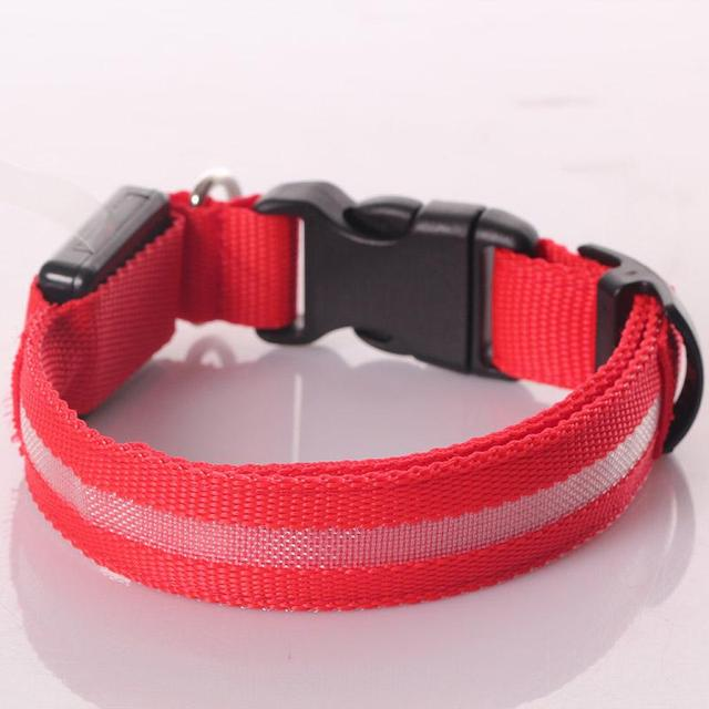 Pet Led Dog Collars For Dogs Pets Cats Glow Led Collars Flashing Light Up Nylon Collar Night Safet Productos Dark Dog Leash