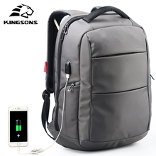 Kingsons KS3142W 15.6 inch Function Laptop Backpack External Charging USB Anti-theft Women Travel Bag Man Business Dayback