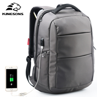 Kingsons KS3142W 15 6 Inch Men Women Function Laptop Backpack With USB Cable Travel School Bags