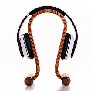 Image 3 - Hot selling Omega Shape Wood Stand Bracket Wooden Headset Display Bracket for A K G Sennhei Grado Sony large size headphones
