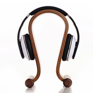 Image 3 - מכירה לוהטת אומגה צורת עץ Stand סוגר עץ אוזניות תצוגת סוגר K G Sennhei Grado Sony גדול גודל אוזניות