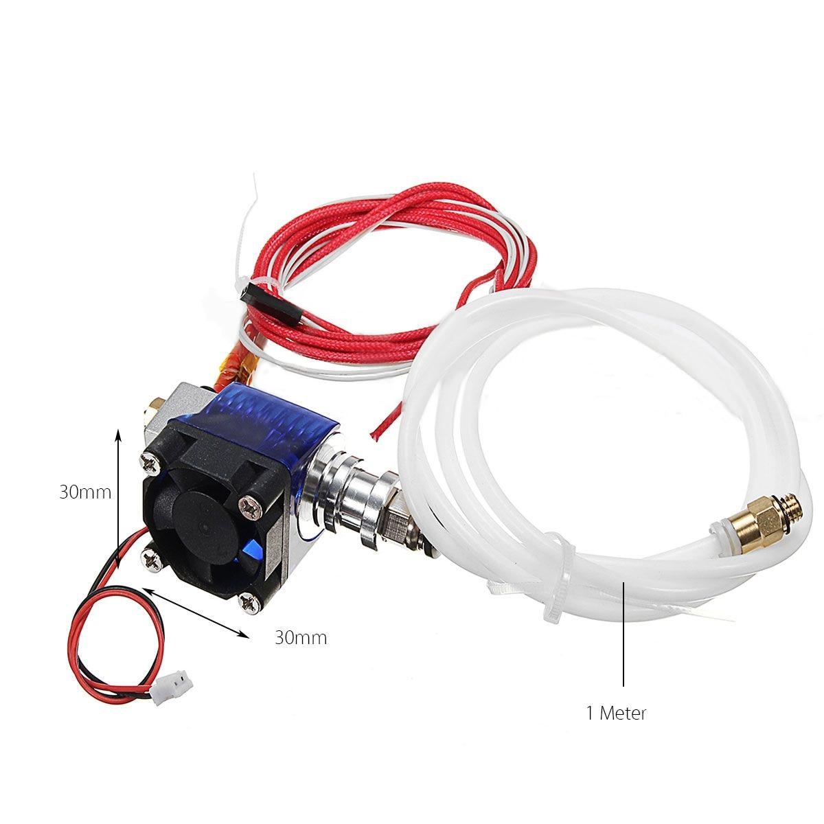 Metal 12V V6 Extruder J-head For 0.4mm 1.75mm Hotend Bowden Filament Fan 3D Printer