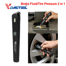 Universal Brake Fluid Tester Tire Pressure Test TPMS 2 in 1 Vehicle Accurate Oil
