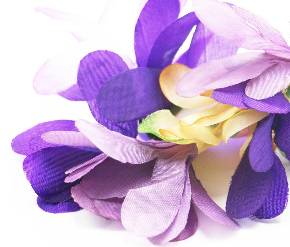 2017 Elegant Purple Flower Crown Headband Gorgeous Design Luau