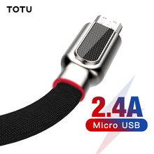 TOTU Micro USB Cable For Samsung Xiaomi Huawei Fast Charger Data 1m Microusb Charging Android Mobile Phone