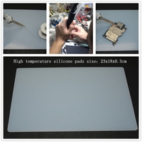 New 23 18 0 3cm Heat Insulation Silicone Pad BGA Soldering Repair Station Hot Gun Partner