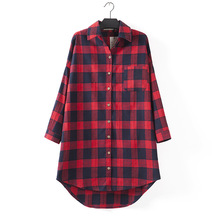 Little & Big Women Long Sleeve Plaid Cotton Button Down Shirts Casual Autumn Blouse Tops Clothes girls plaid blouse 2019 spring autumn turn down collar teenager shirts cotton shirts casual clothes child kids long sleeve 4 13t