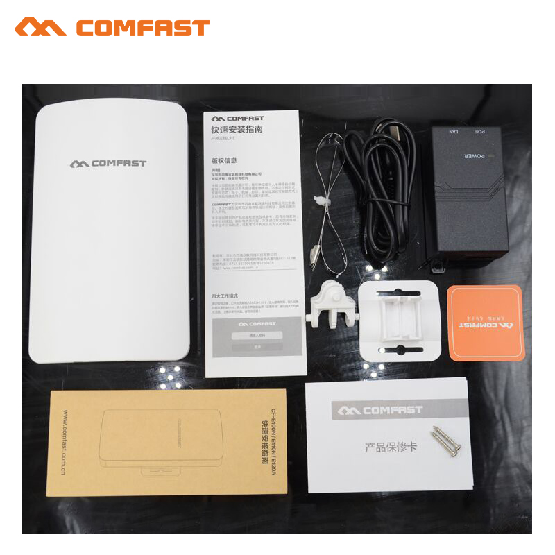 Comfast Mini Wireless WIFI Extender Repeater 300Mbps Outdoor CPE WiFi Bridge for ip camera project 1-2km long range amplifier comfast wireless bridge 5 8ghz 300mbps mini outdoor cpe wifi router for ip camera project 1 2km long range amplifier cf e120a