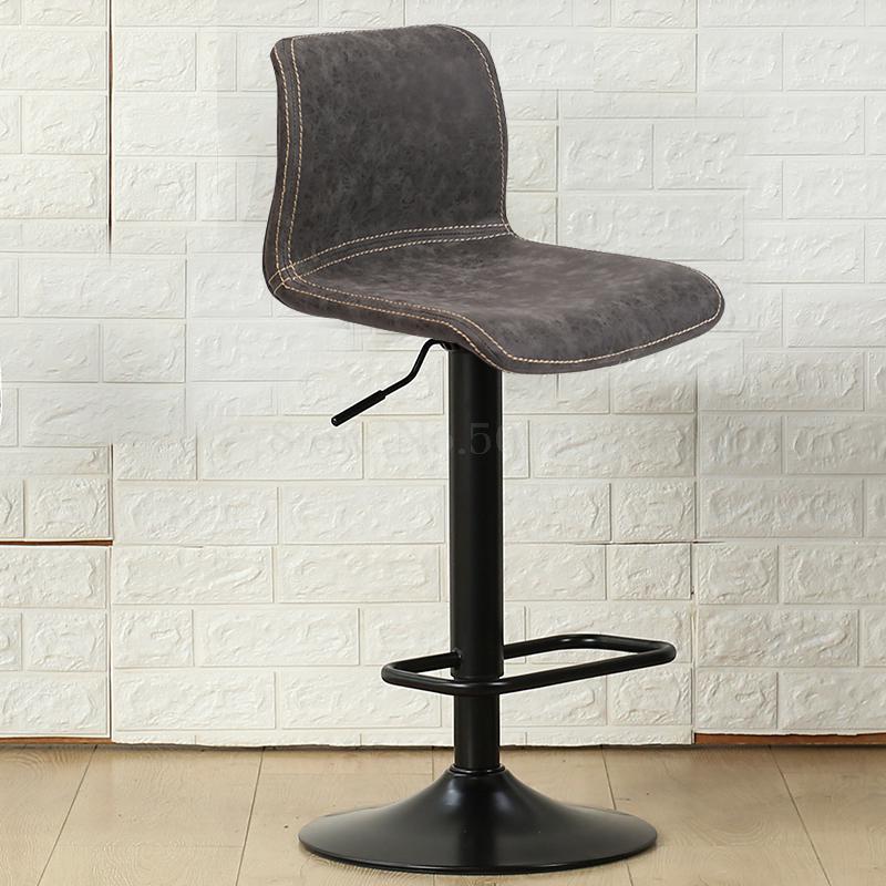 Bar chair lift rotating high stool Nordic modern minimalist home back tea shop front bar chair