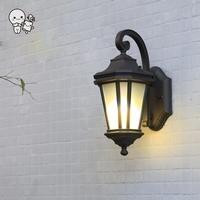 Outdoor Wall Lamp Fixture Waterproof European Vintage Antique Modern Porch Sconce Lighting Garden Balcony Hallway E27 E26 Bulb