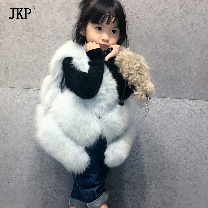 Quality fox fur Vest for girls clothes winter autumn Kids Girl baby Vests Waistcoats Children Outerwear Coats baby boy outerwear warm fleece vest kids hooded jacket coats autumn children clothes windproof hoody vest baby girl waistcoats
