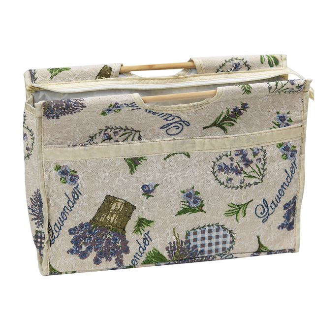 Dd Exquisite Practical Wood Handle Woven Bag Knitting Needles Bag