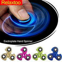 Fidget EDC Spinner - Spinning Time Long Tri-spinner Hand Spynner Figet Puzzles Toys for Anti-stress Adults Kid Children hot Gift