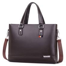 Модная офисная мужская сумка через плечо мужские кожаные портфели мужские деловые сумки для работы bolsa masculina мужская сумка на плечо