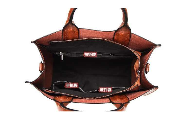 Женская сумка в европейском и американском стиле, роскошная женская сумка-ракушка, высокая емкость, масло, воск, кожа, женская сумка через плечо, C836