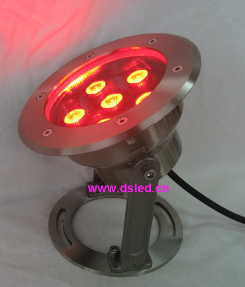 good quality,high power outdoor 18W RGB LED spotlight, LED projector light,DMX compitable,IP68,24V DC, DS-10-27,6X3W RGB 3in1