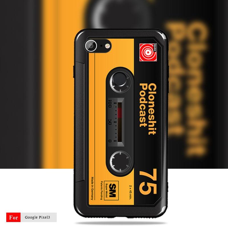 For Google Pixel 3 Case Google Pixel 2 2XL Cover Retro Camera Cassette  Tapes Soft Silicon Google Pixel 3 2 2XL Cover