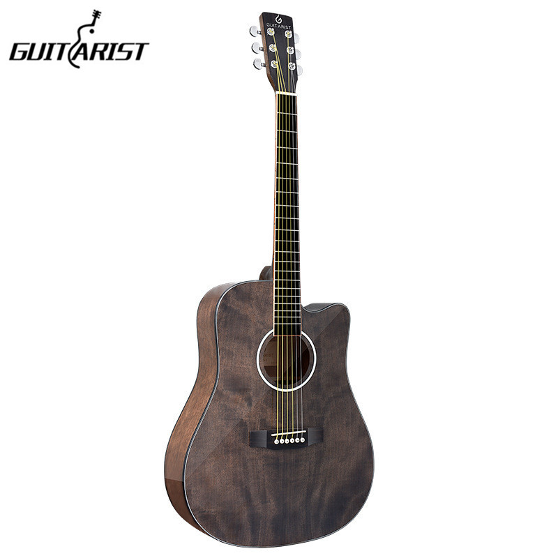 guitarist guitar 41 inch Electric Acoustic Guitar Mahogany wood glossy Finish Rosewood Fingerboard guitarra with guitar strings high quality custom shop lp jazz hollow body electric guitar vibrato system rosewood fingerboard mahogany body guitar