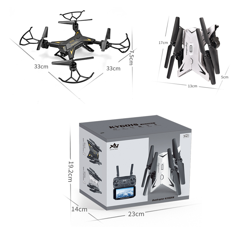 RC Helicopter KY601S Professional Drone with Camera HD 1080P WIFI FPV Quadcopter Drone Toys for Kids 15 Minutes Playing Time 17