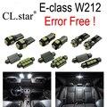 23 unid X Error LED libre de la lámpara Kit de Luz Interior Para Mercedes Para Mercedes-Benz clase E W212 Sedan Finca Coupe Convertible (09-15)