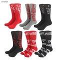 Eua marca jacquard longo happy socks algodão chama fogo palavras THRASHER SSUR FODA dedo médio estilo harajuku meias para homens mulheres