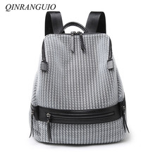 QINRANGUIO Nylon Backpack Women 2018 Fashion Women Backpack Large Capacity School Bags for Teenage Girls School Backpack Travel