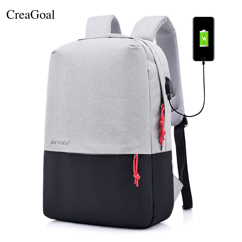 2018 New Backpacks College Student School Bags For Women Men Teenagers Back pack Vintage ...
