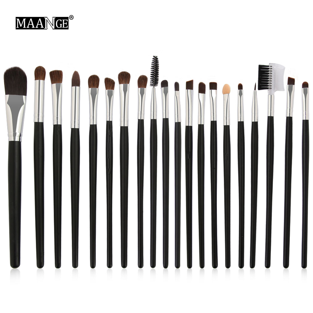 20 pcs Pro Makeup Brush set Kit Tools Foundation Eye Shadow Eyeliner Lip Eyebrow Concealer Contoure Blending Horse Hair Make-up 20 pcs set makeup brushes set eye shadow foundation eyeliner eyebrow lip brush cosmetics tools kits beauty make up brush 2017