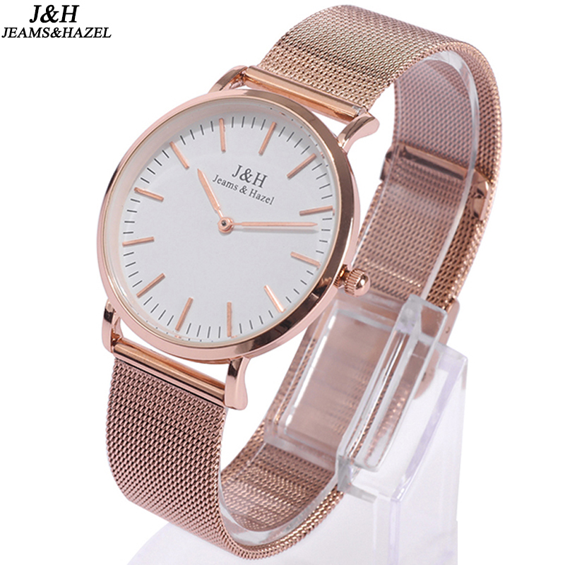 Mesh Strap Quartz Watches Womens Waterproof Ultra Thin Rose Gold Stainless Steel Wrist Watch with Mesh Band, Relogio Feminino 16 18 20 22 mm silver black gold rose gold ultra thin mesh milanese loop stainless steel bracelet wrist watch band strap belt