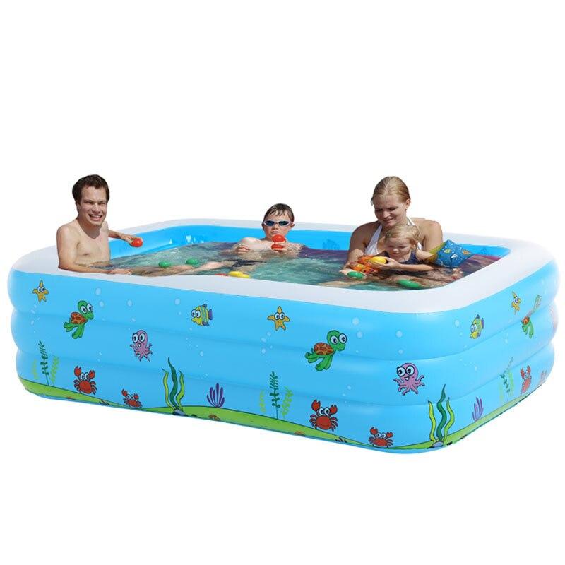 Piscine bébé gonflable bain de bain jouets été grandes 7-9 personnes piscines écologique PVC Portable - 2