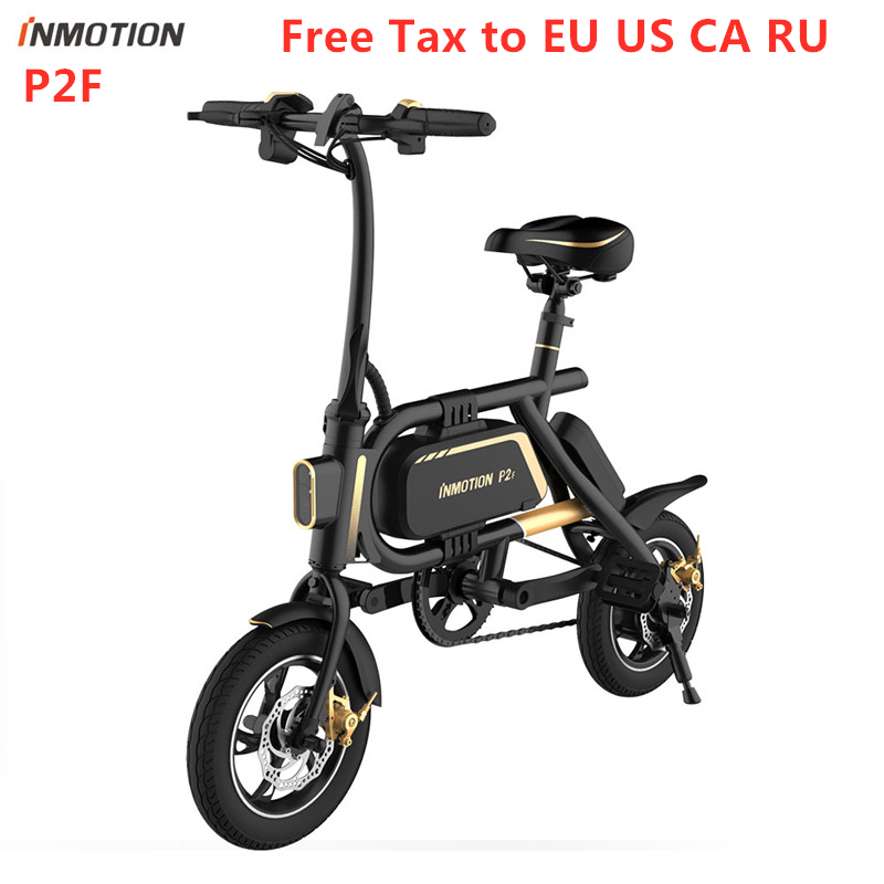 "Original Inmotion P2F Ebike Folding Bike 36V Lithium-ion Battery 350W 30km/h 12"" Tire Mini Bicycle Electric Bike CE RoHS FCC"