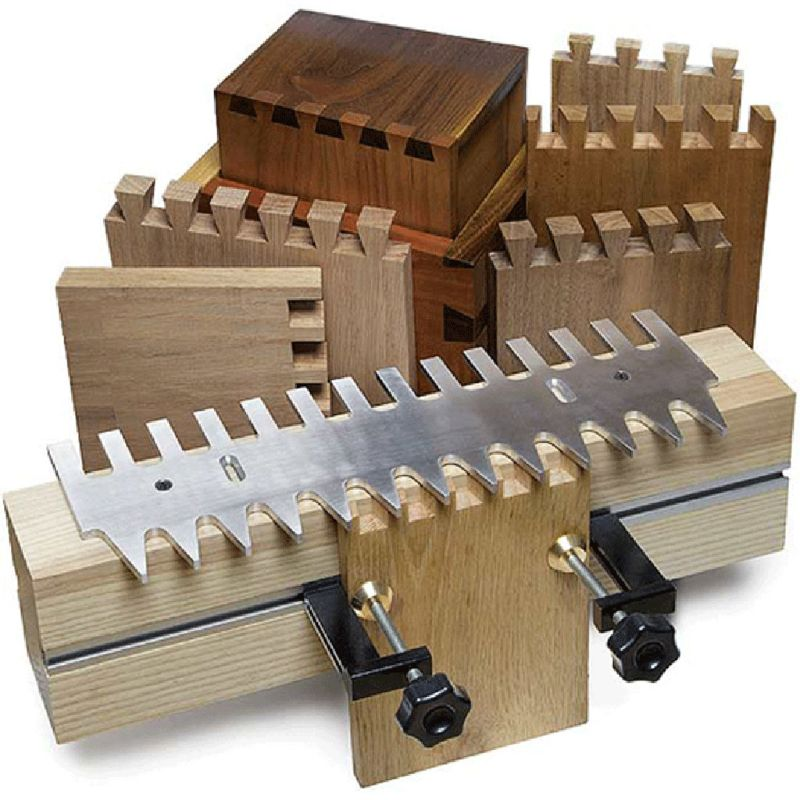 """2019 New Dovetail Template 1/4"""" Shank Straight Bit Guide Bushing Set 15"""" 16"""" Aluminum Alloy Drawers Accessories"""