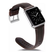 Genuine Leather Strap for Apple Watch Band 42/44MM 38/40MM bracelet replacement watchband for iwatch Series 4/3/2/1 wrist belt цены онлайн